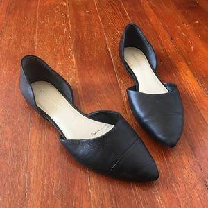Franco Sarto D'orsay black leather flats size 9 🖤